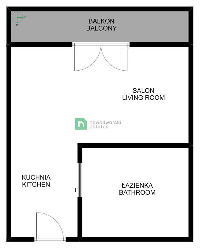 Mieszkanie do wynajęcia Kraków, Podgórze ul. Rydlówka  Wyjątkowa Kawalerka, Centrum,Rondo Matecznego,HSBC floorplan