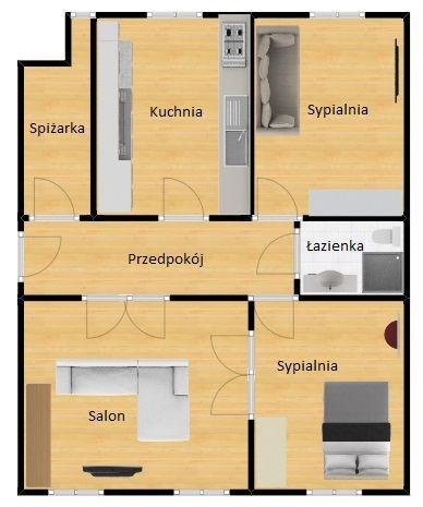 Mieszkanie na sprzedaż Gliwice ul. Joachima Lelewela  Piękny, przestronny apartament na sprzedaż  floorplan