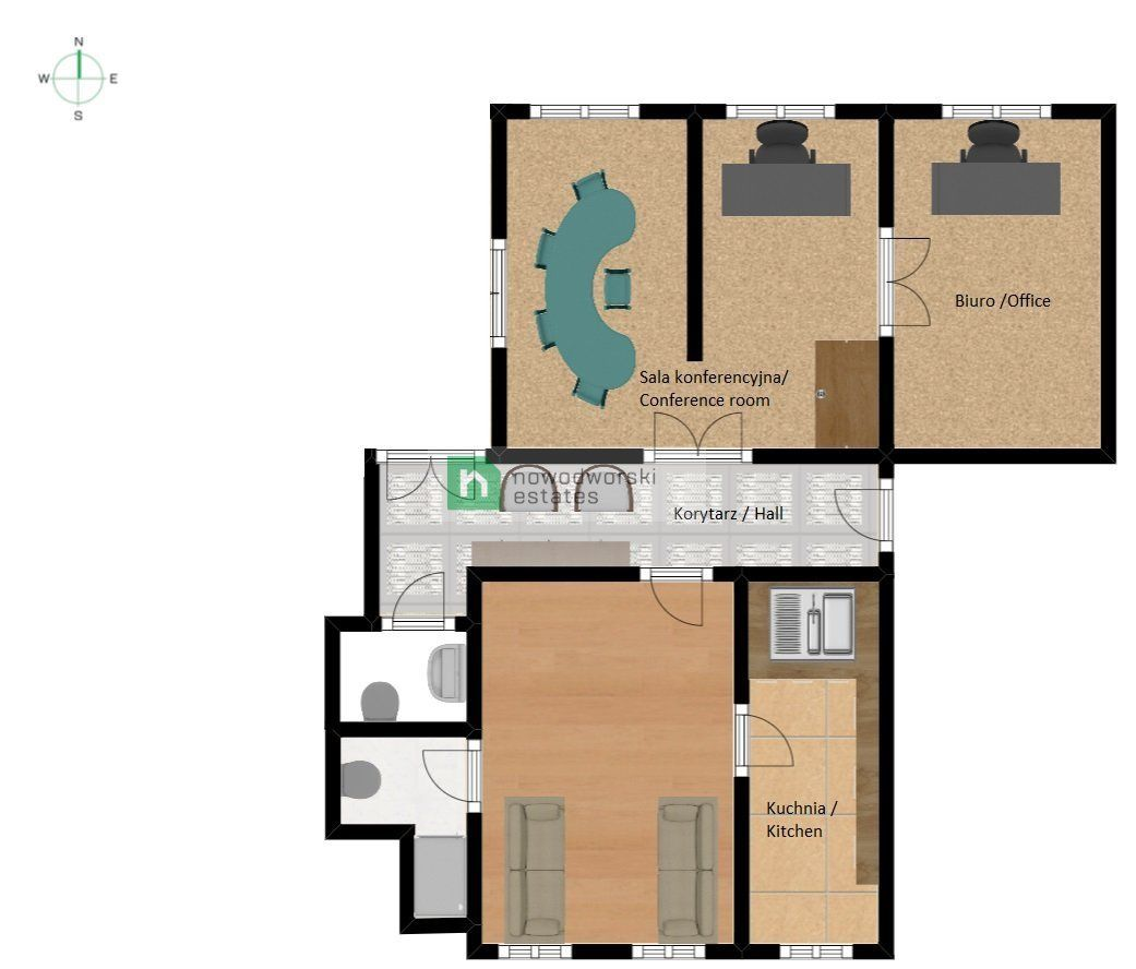CommercialSpace to Rent Gliwice, Centrum Norberta Barlickiego St. Business premises for rent in the city centre  floorplan