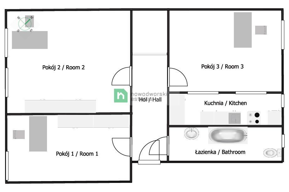 CommercialSpace to Rent Gliwice Księcia Ziemowita St.   Office space in the city center. floorplan
