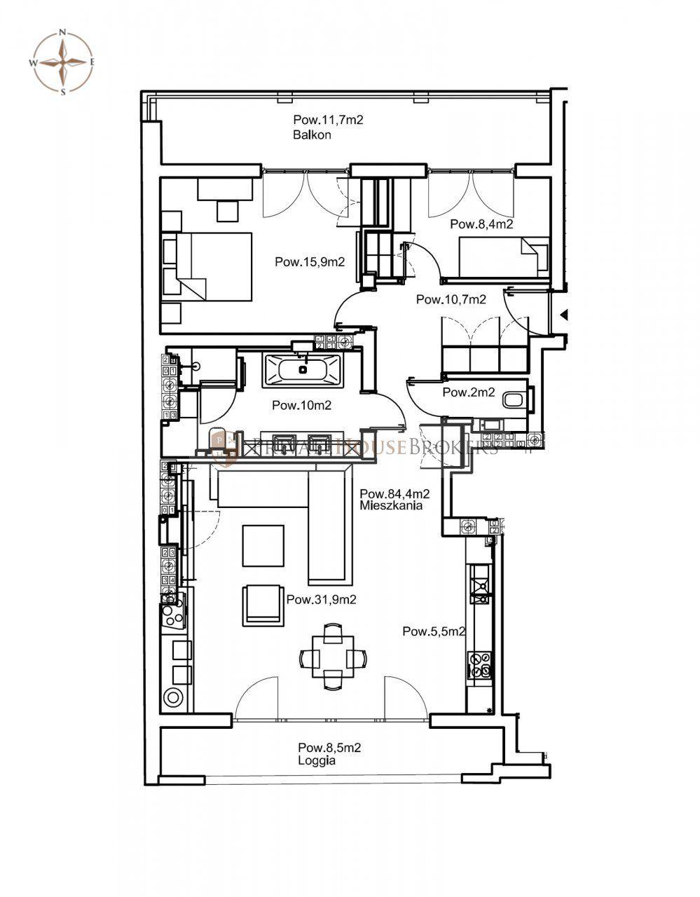 Pięknie wykończony apartament dla ceniących wygodę i komfort, położony 5 min od Rynku Głównego