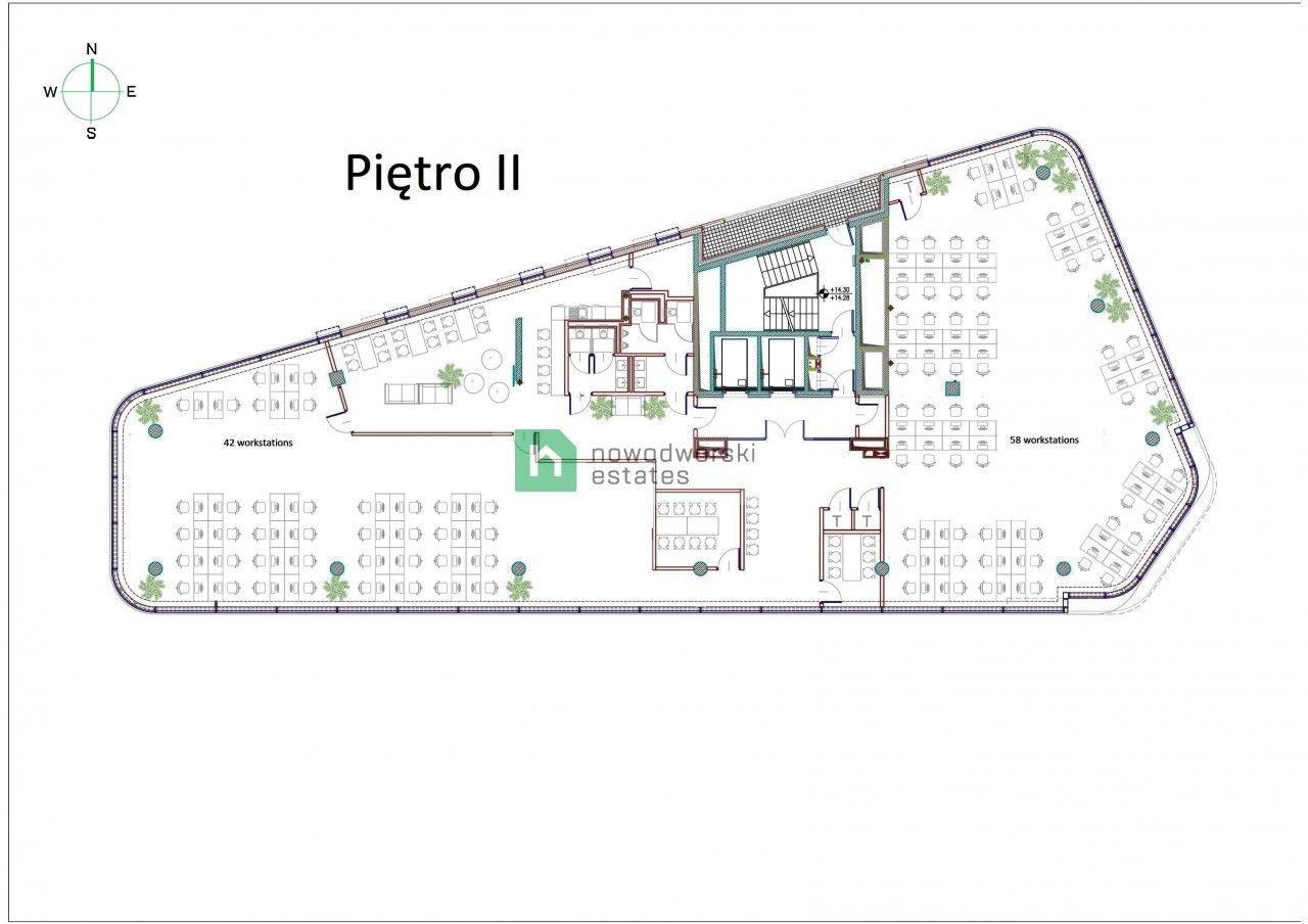 CommercialSpace to Rent Kraków, Podgórze Wadowicka St. Call Center Open Space office, Zabłocie  floorplan