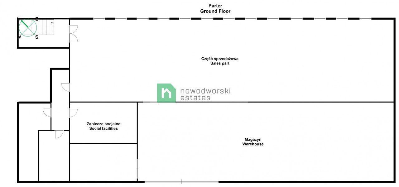Lokal na sprzedaż Głogowski, Głogów ul. Sybiraków Obiekt handlowo-usługowy / 811,84 m2 floorplan