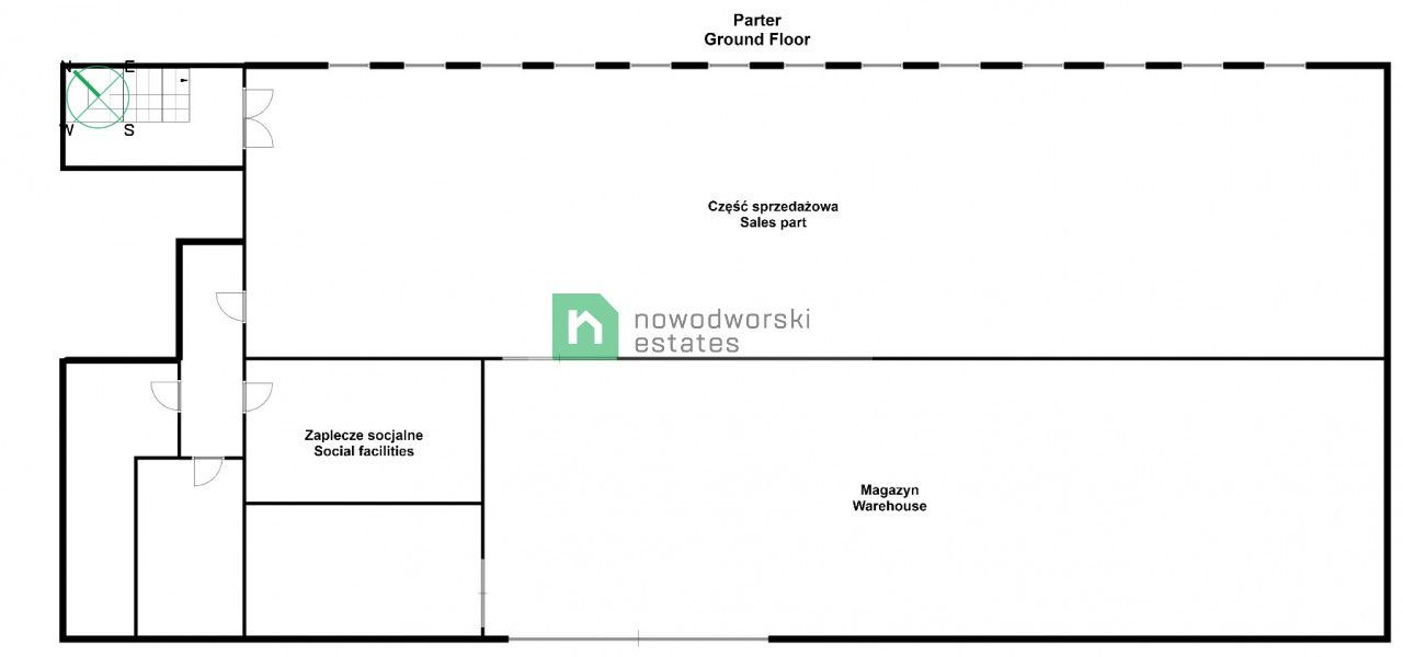 Lokal na sprzedaż Głogowski, Głogów ul. Sybiraków Obiekt handlowo-usługowy floorplan