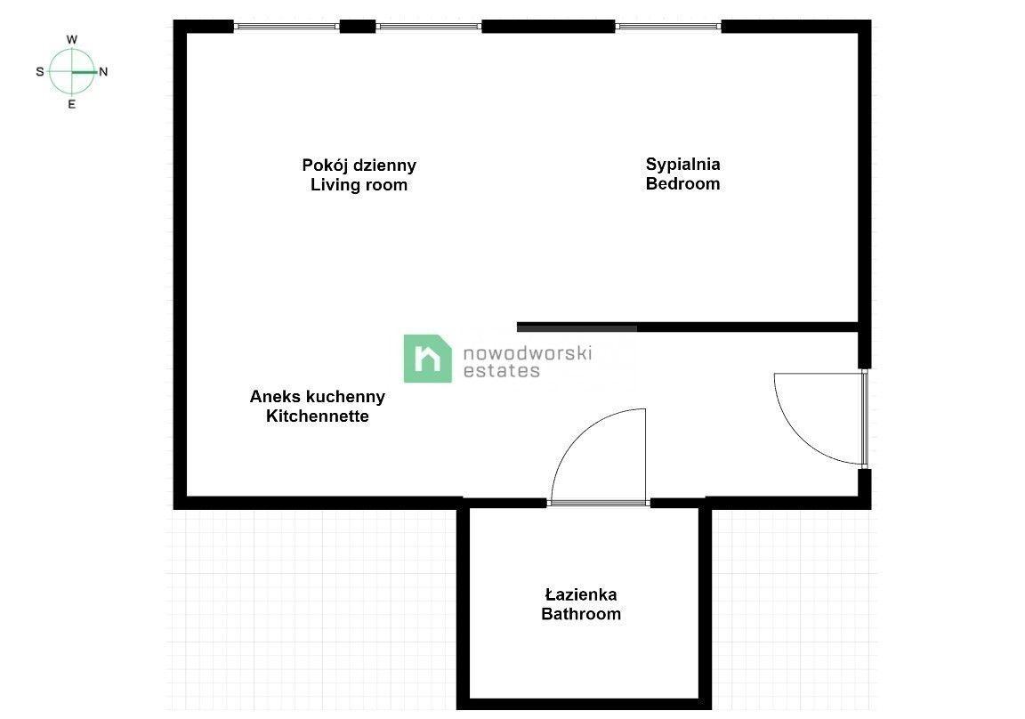 Mieszkanie do wynajęcia Wrocław, Śródmieście ul. Barycka Kawalerka zlokalizowana blisko Pl. Grunwaldzkiego floorplan