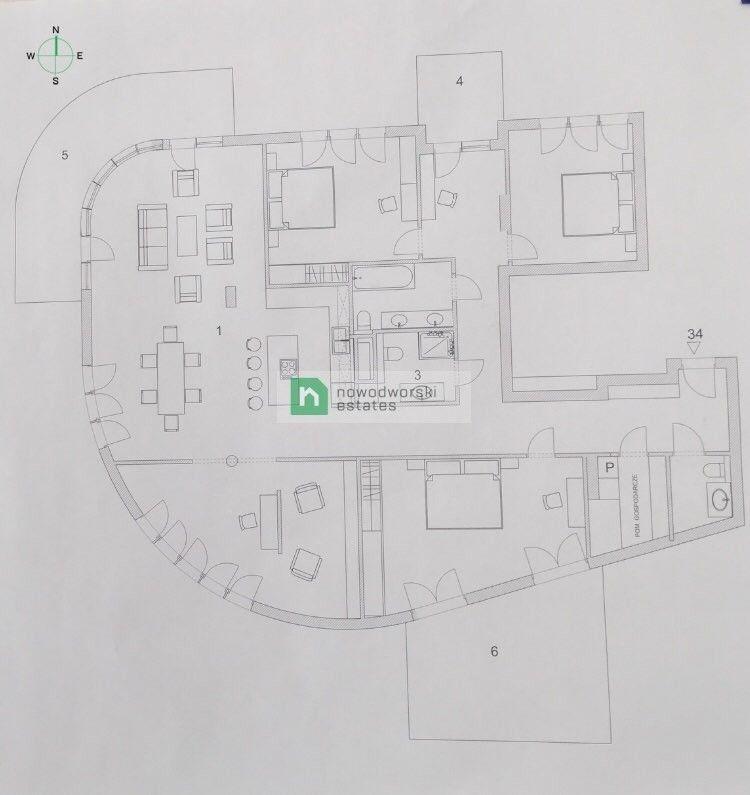 Mieszkanie na sprzedaż Warszawa, Mokotów ul. Huculska Duży, przestronny apartament z tarasem na dachu floorplan