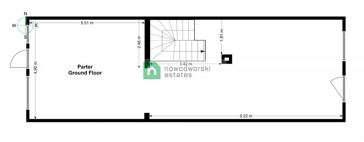 Lokal na sprzedaż Głogowski, Głogów ul. Grodzka Kamienica w centrum floorplan