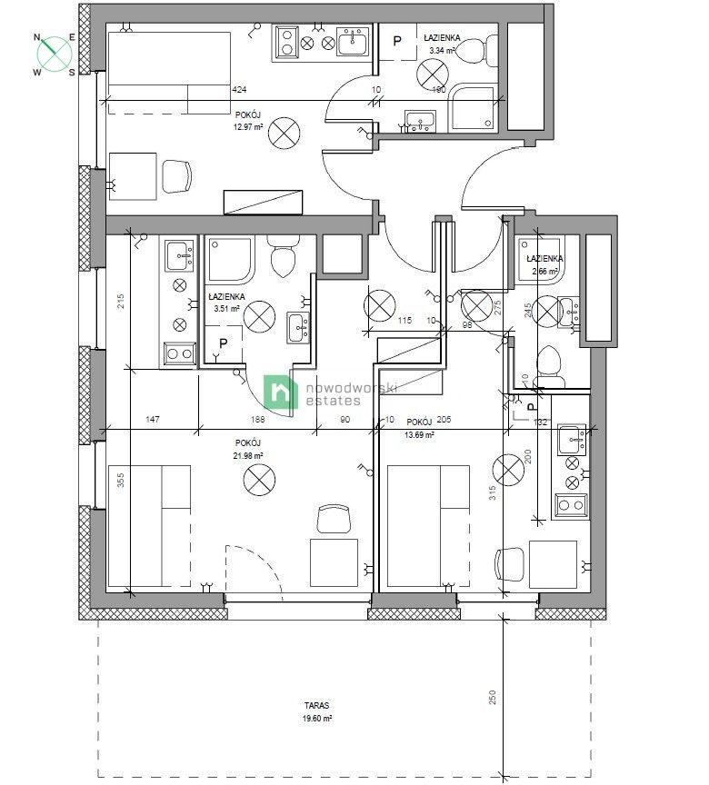 Mieszkanie na sprzedaż Wrocław, Krzyki ul. Krzysztofa Komedy  3 kawalerki inwestycyjne z opcją najmu Krzyki  floorplan