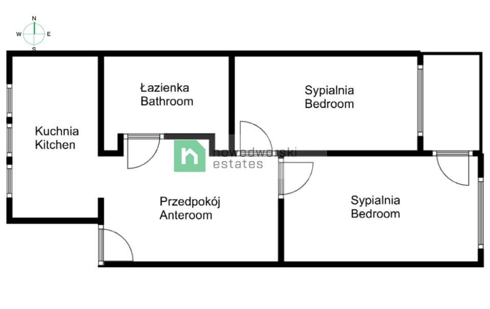 Mieszkanie do wynajęcia Kraków, Krowodrza / Prądnik Biały ul. Rusznikarska Dwupokojowe mieszkanie na osiedlu Krowodrza Górka floorplan