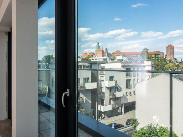 Niezwykły apartament 41,5 m2 z tarasem 17 m2 z widokiem na Wisłę i Wawel