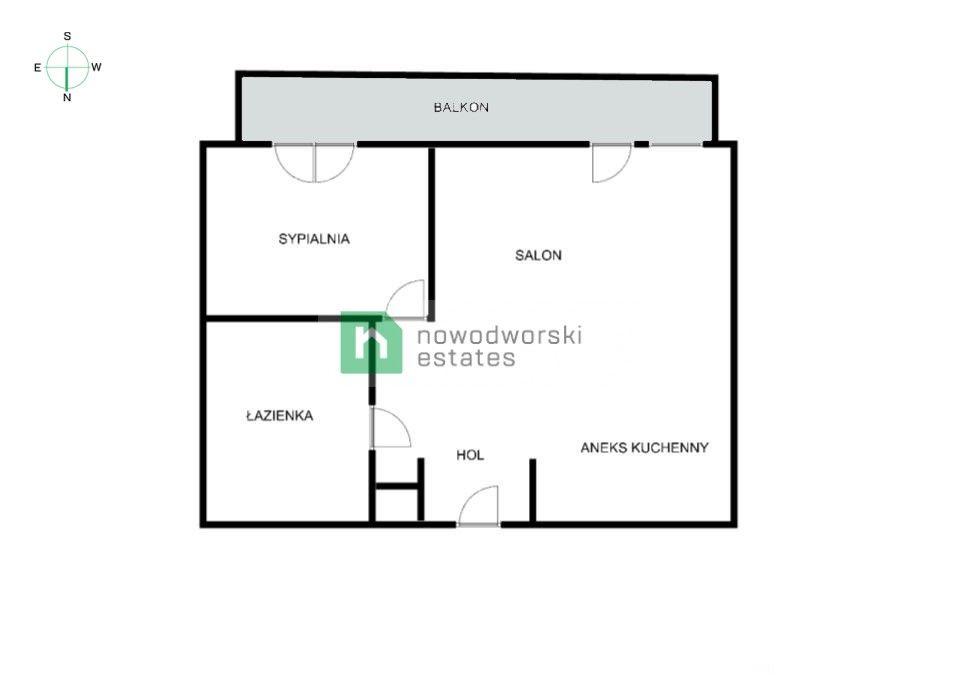 Mieszkanie do wynajęcia Kraków, Śródmieście / Stare Miasto ul. Szlak Angel City – dwupokojowe mieszkanie z balkonem  floorplan