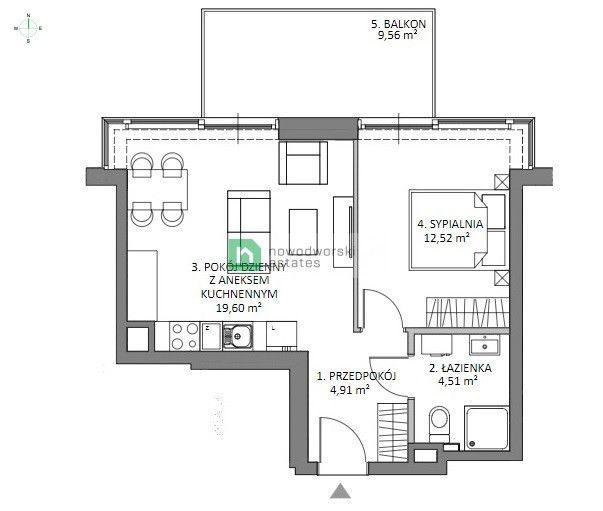 Mieszkanie na sprzedaż Gdańsk, Sobieszewo ul. Nadwiślańska Apartament Sol Marina Sobieszewo floorplan