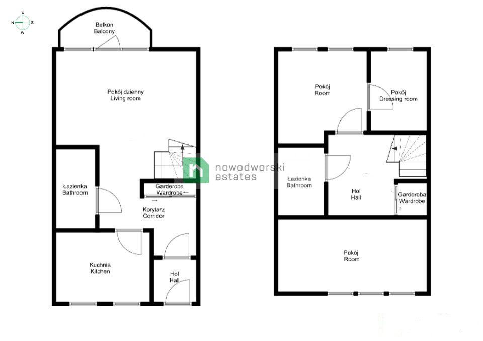 Mieszkanie na sprzedaż Wrocław, Psie Pole ul. Poświęcka  Dwupoziomowe mieszkanie| 3 pok. 79m2| Poświęcka - Psie Pole  floorplan