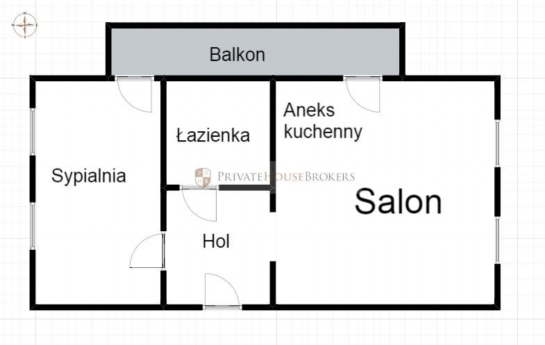 Przestronny one-bedroom na cichym osiedlu