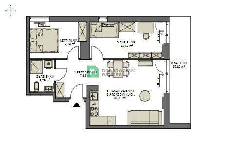 Mieszkanie na sprzedaż Gdańsk, Sobieszewo ul. Kwiatowa Lazur Park mieszkanie z balkonem 3 pokoje floorplan