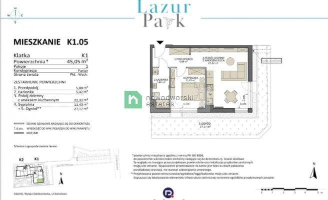 Mieszkanie na sprzedaż Gdańsk, Sobieszewo ul. Kwiatowa Apartament w unikatowej lokalizacja- gdańska Wyspa Sobieszewska  floorplan
