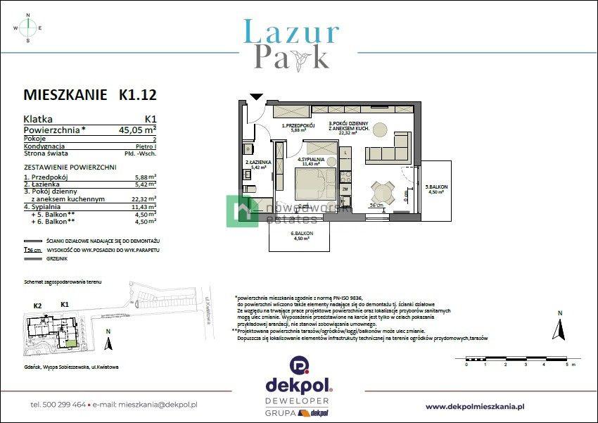 Mieszkanie na sprzedaż Gdańsk, Sobieszewo ul. Kwiatowa Apartament w nowej inwestycji w Sobieszewie floorplan