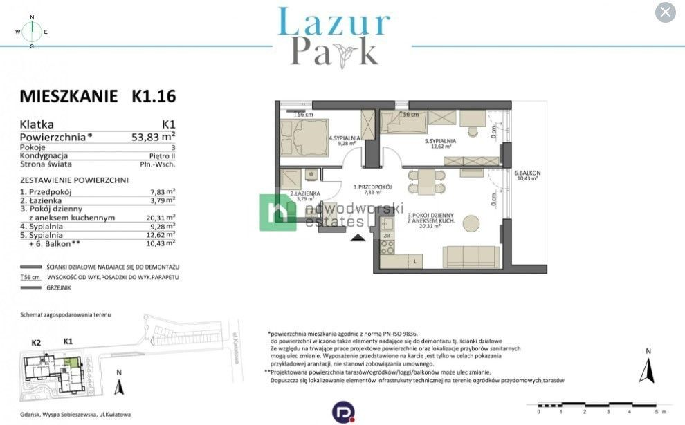Apartment for Sale Gdańsk, Sobieszewo Kwiatowa St. or sale Apartment 1 km from the sea floorplan