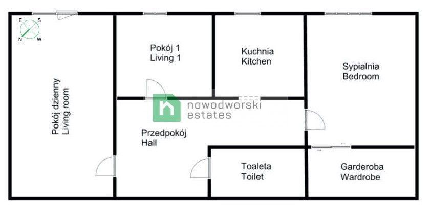 Mieszkanie na sprzedaż Kraków, Nowa Huta / Czyżyny ul. os. Dywizjonu 303 Czyżyny - komfortowe 3-pokojowe z ogrodem floorplan