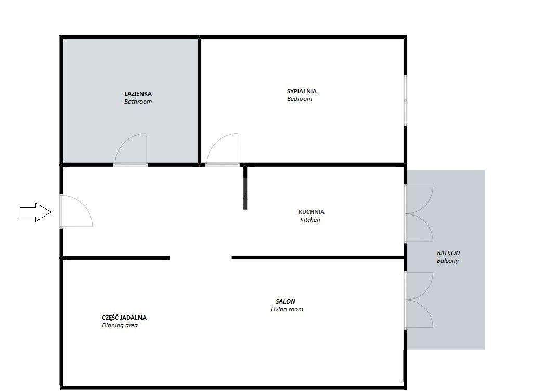 Przestronne dwupokojowe mieszkanie w Apartamentach Novum II - ul.Rakowicka