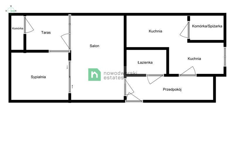 Mieszkanie na sprzedaż Gdańsk, Matarnia ul. Kadetów 2-pok. mieszkanie z widokiem na las floorplan