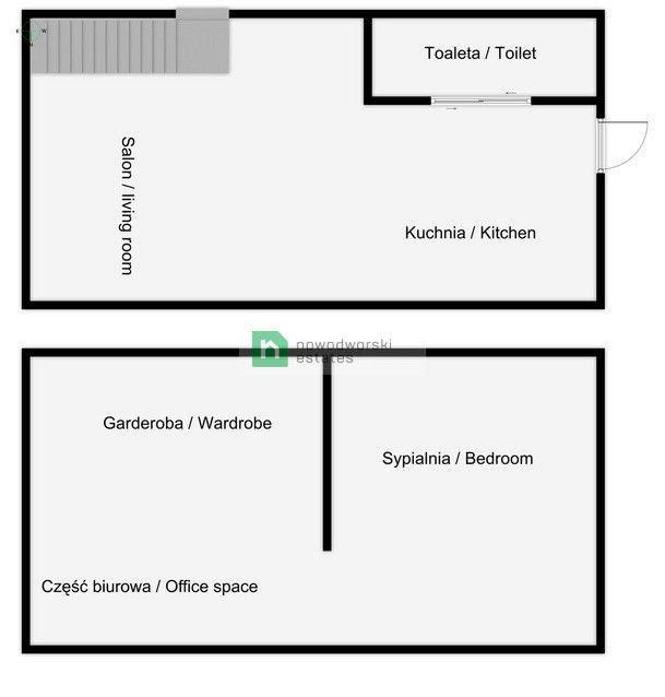 Mieszkanie na sprzedaż Kraków, Podgórze / Dębniki ul. Zamkowa 2-poziomowe mieszkanie z pięknym widokiem na Wawel floorplan