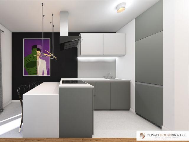 Studio z garderobą i widokiem 29,33m2 Osiedle KRK ECHO Stańczyka