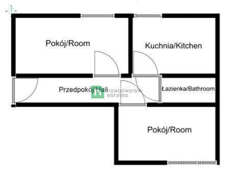 Mieszkanie do wynajęcia Gdańsk, Wrzeszcz Górny ul. Racławicka Przestronne mieszkanie dwupokojowe we Wrzeszczu  floorplan