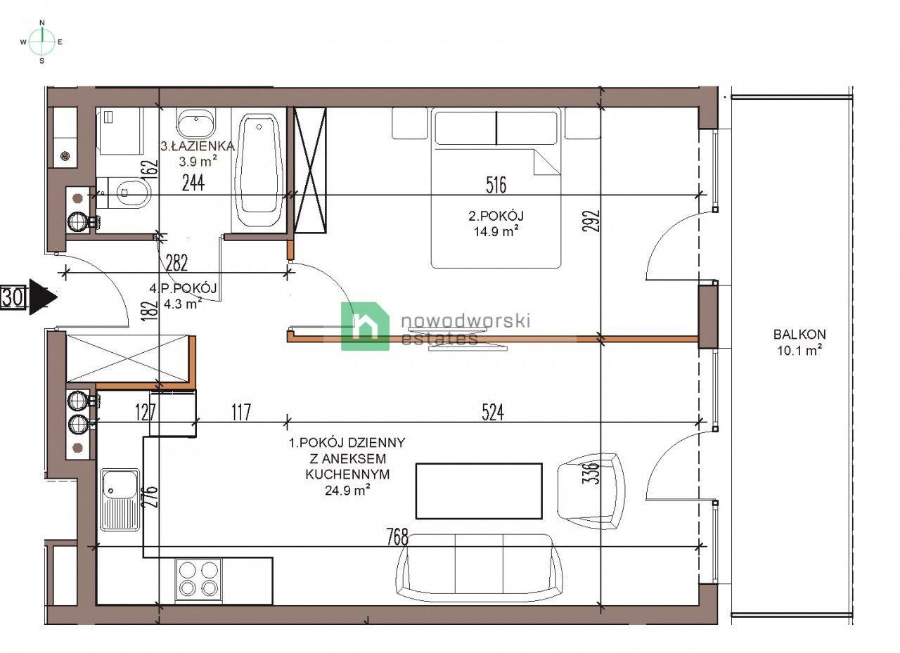 Mieszkanie na sprzedaż Kamieński, Dziwnów / Dziwna ul. Dziwna 2 pokojowy Apartament nad morzem/Sprzedaż/Dziwnów floorplan