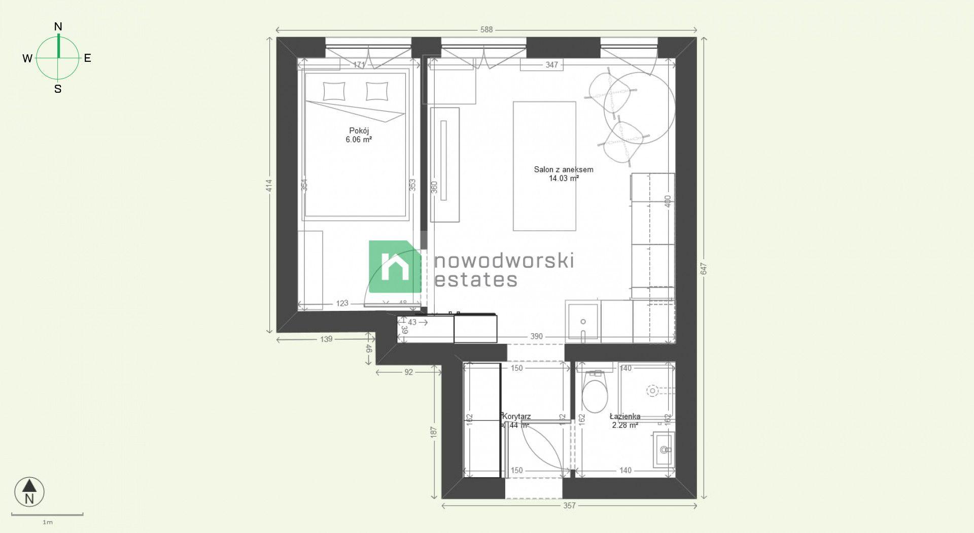Mieszkanie na sprzedaż Gdańsk, Wrzeszcz Górny ul. Adama Mickiewicza  Nowoczesne, świerzo wyremontowane, przytulne 2 pokoje, świetna lokalizacja Wrzeszcz  floorplan