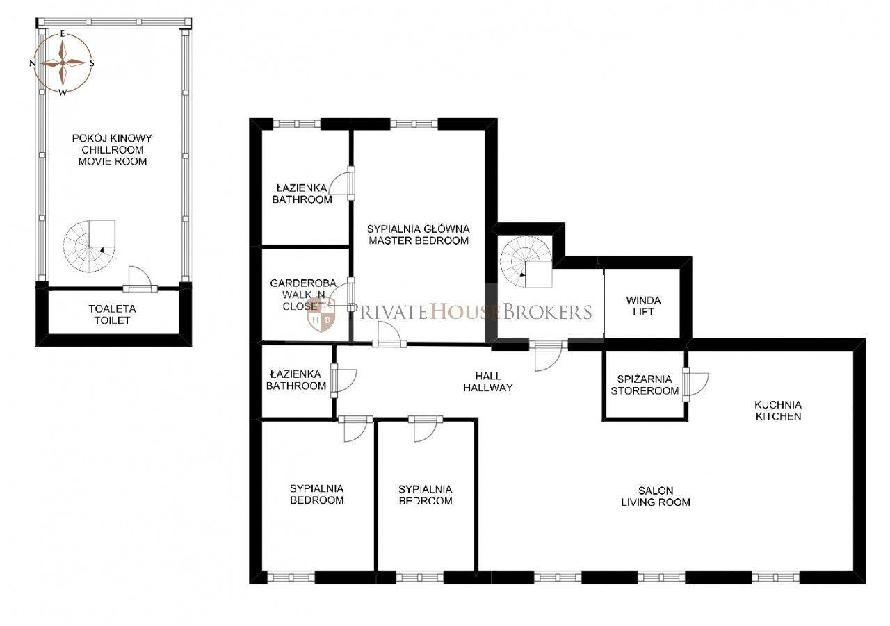 Niezwykły penthouse 178 m2 wykończony i wyposażony w budynku z basenem i siłownią 3 minuty od Galerii Krakowskiej