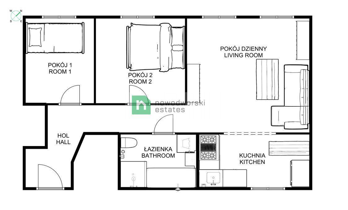 Mieszkanie na sprzedaż Wrocław, Krzyki ul. gen. Ignacego Prądzyńskiego  Mieszkanie 3-pokojowe w centrum, Prądzyńskiego  floorplan