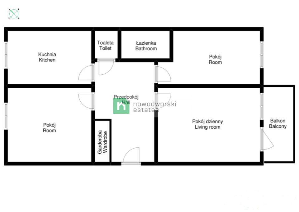 Mieszkanie na sprzedaż Wrocław, Krzyki ul. Orzechowa  Rozkładowe 3 pokojowe mieszkanie 65,9 m2 Krzyki ul.Orzechowa  floorplan
