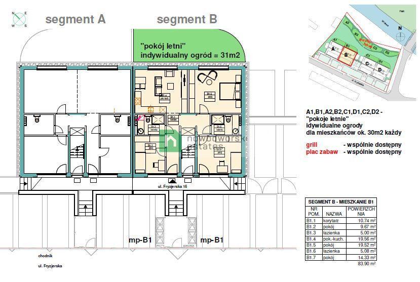 Mieszkanie na sprzedaż Wrocław, Psie Pole / Widawa ul. Fryzjerska  Mieszkanie 83,9 m2 w zacisznej okolicy z ogródkiem i widokiem na park  floorplan