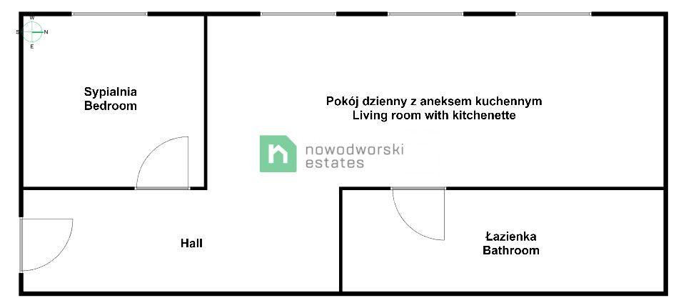 Mieszkanie do wynajęcia Wrocław, Stare Miasto pl. Jana Pawła II Centrum - Jana Pawła II | 2 pokoje | 31 m2 floorplan