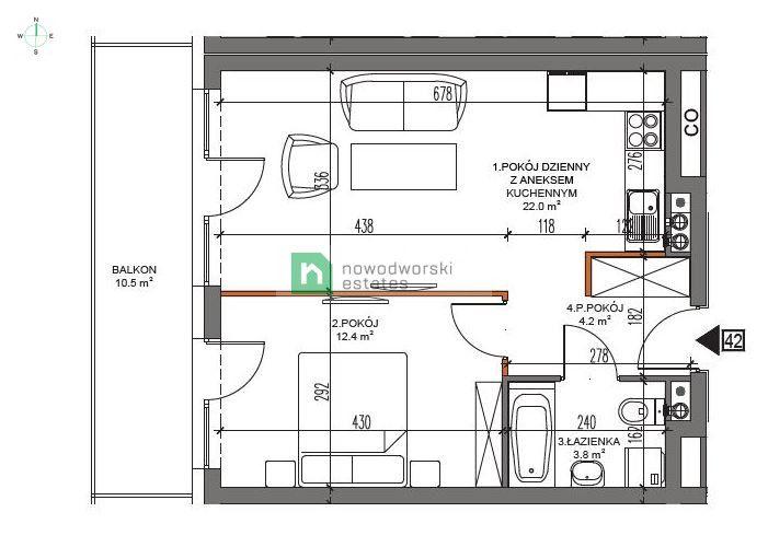 Mieszkanie na sprzedaż Kamieński, Dziwnów ul. Dziwna Apartamenty Dziwnów floorplan