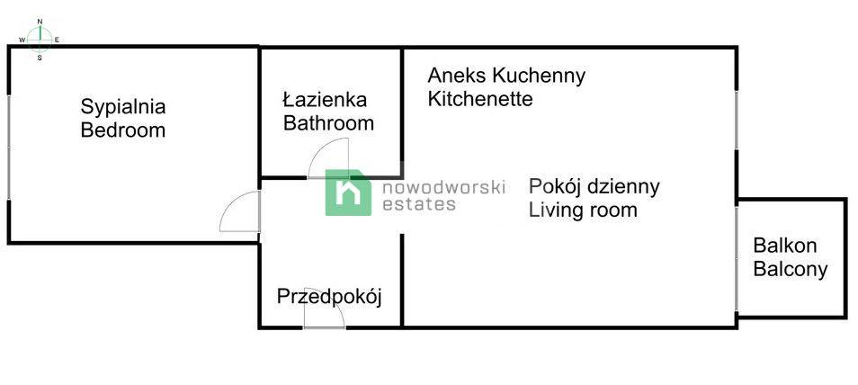 Mieszkanie do wynajęcia Kraków, Śródmieście / Stare Miasto ul. Rakowicka Stylowy 2 pokojowy apartament o powierzchni 59 m2 w Inwestycji przy ul. Rakowickiej| Apartamenty Novum floorplan