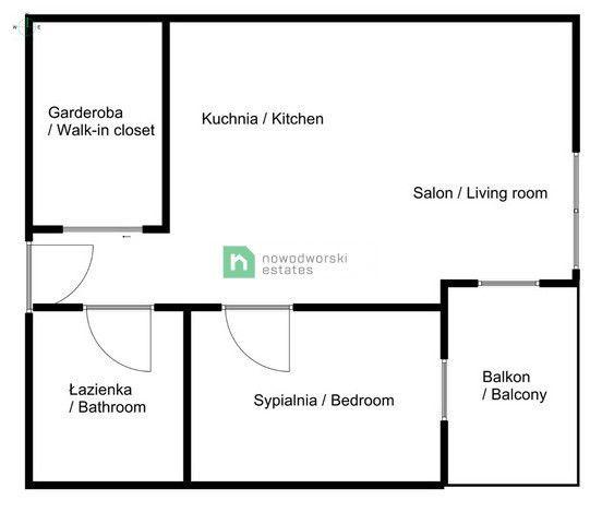 Mieszkanie do wynajęcia Kraków, Krowodrza / Bronowice ul. Stańczyka  Nowe klimatyzowane studio Bronowice floorplan