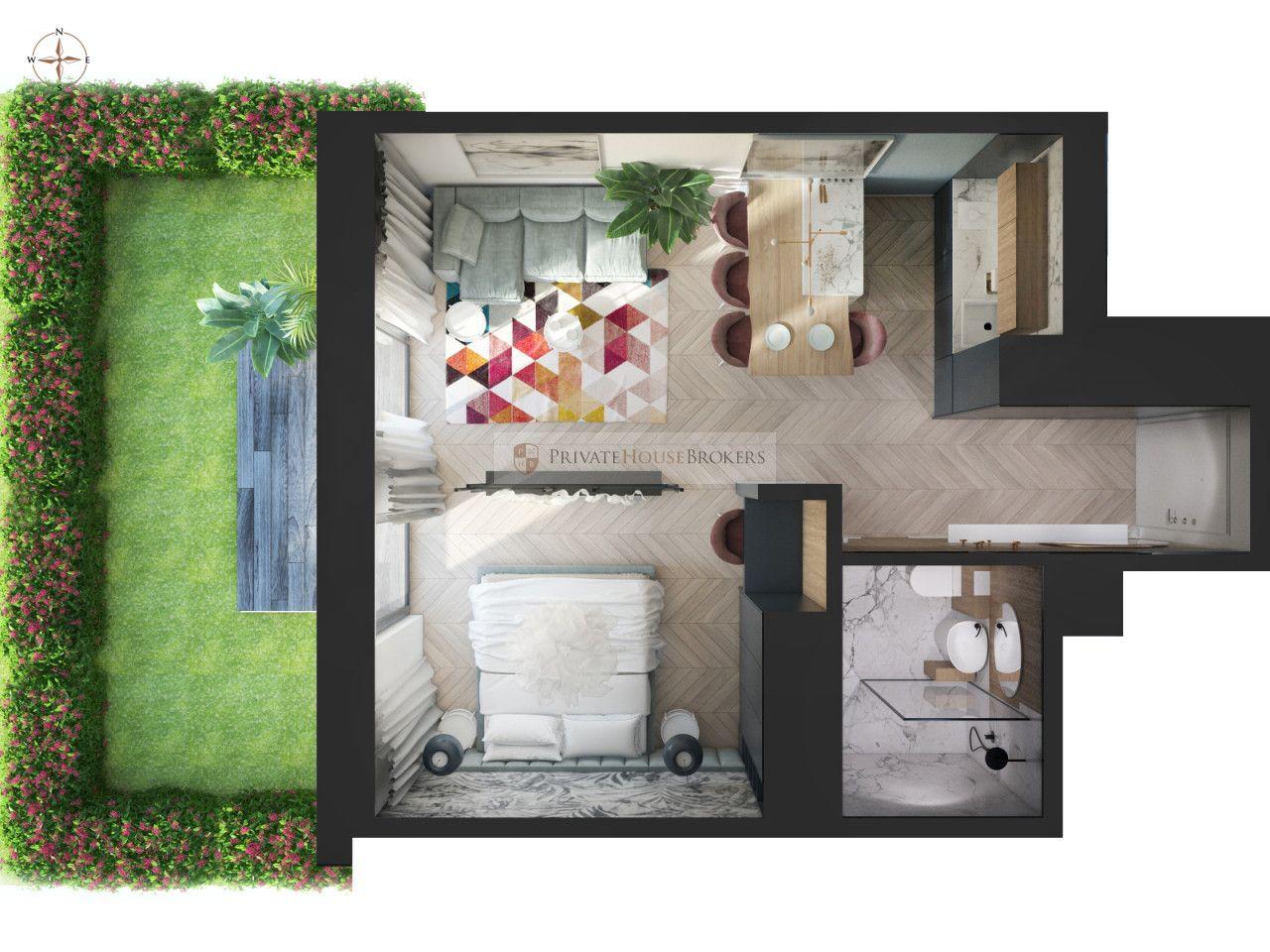 2-pokojowe mieszkanie w Lokum Siesta