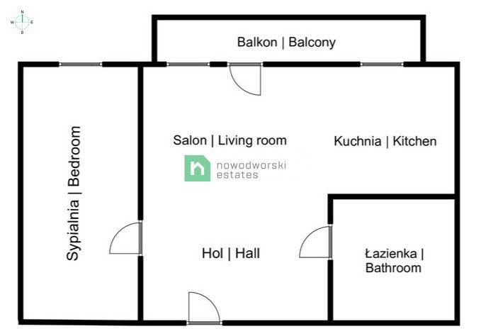 Mieszkanie do wynajęcia Kraków, Śródmieście / Prądnik Czerwony ul. Marchołta 2pokojowe komfortowe mieszkanie z balkonem, Prądnik czerwony, przy Quattro Bussines Park floorplan