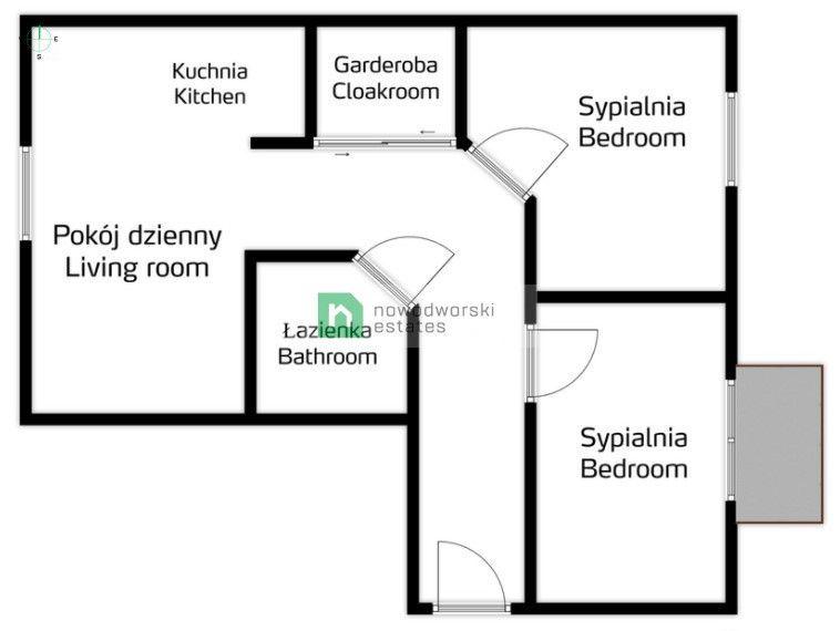 Mieszkanie na sprzedaż Kraków, Podgórze ul. Obozowa Jasne, trzypokojowe mieszkanie - Ruczaj / Obozowa floorplan