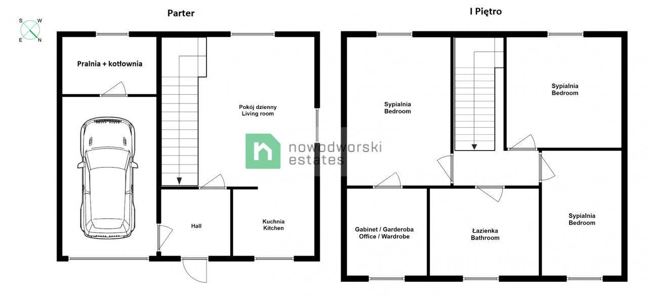 House to Rent Wrocławski, Kobierzyce / Ślęza Główna St. DO WYNAJĘCIA / dom bliźniaczy przy Zamku Topacz floorplan