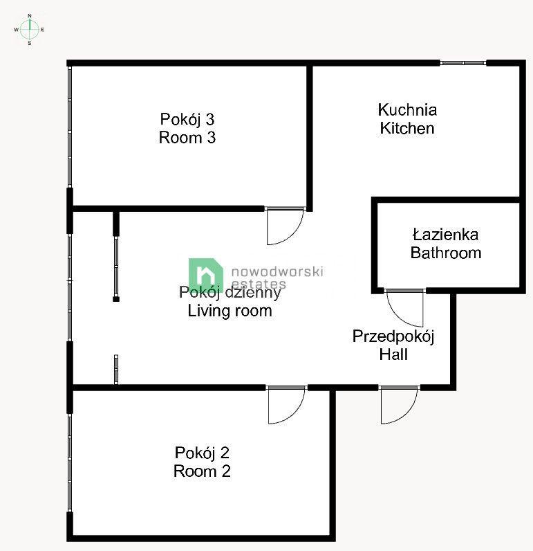 Mieszkanie do wynajęcia Wrocław, Fabryczna / Grabiszyn ul. Inżynierska 3 pokojowe mieszkanie przy FAT, Grabiszyńskiej  floorplan