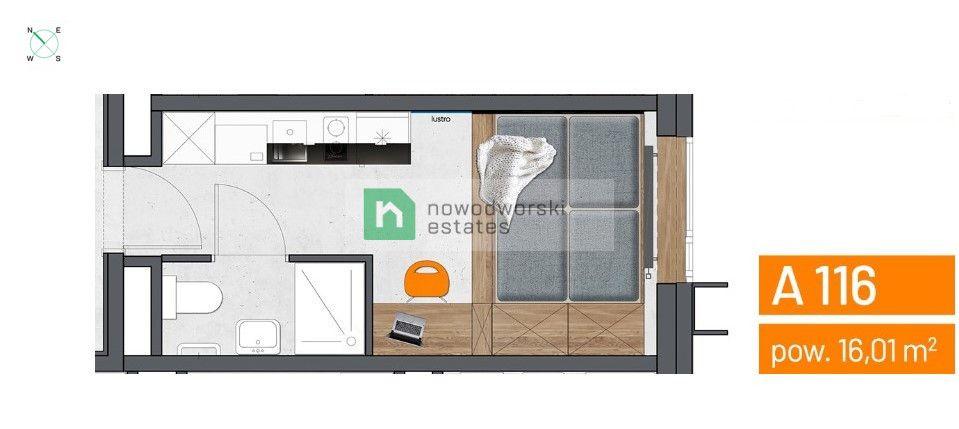 Mieszkanie na sprzedaż Wrocław, Fabryczna / Popowice ul. Legnicka  Kawalerka wykończona pod klucz - okazja dla inwestora!  floorplan