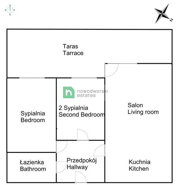 Apartment for Sale Kraków, Śródmieście / Grzegórzki płk. Francesco Nullo St. Bright, air-conditioned, 3-room apartment in the Grzegórzki Park Investment | ul. Colonel Francesco Nullo floorplan