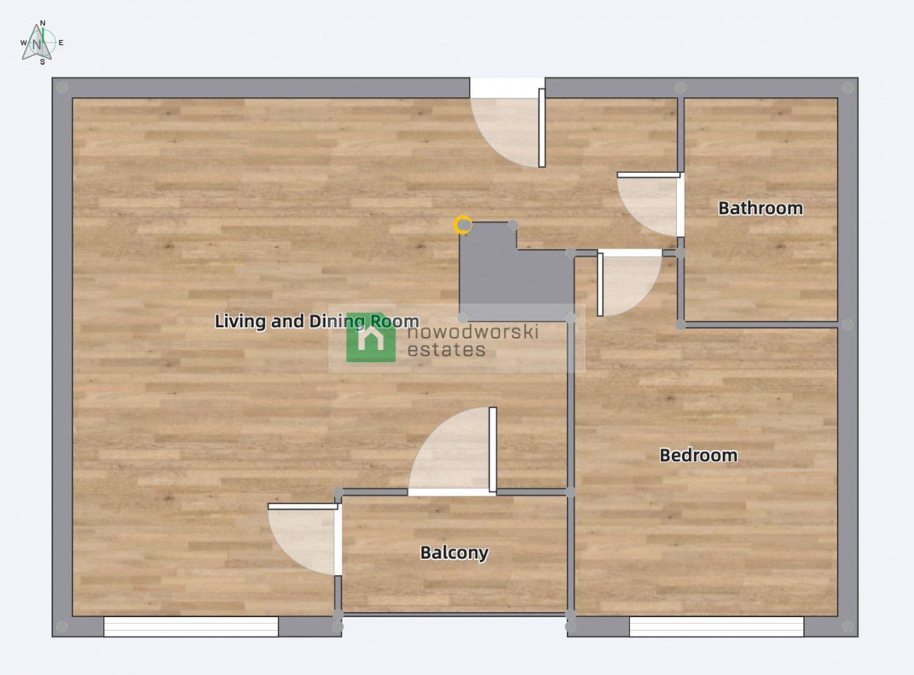 Apartment to Rent Warszawa, Wola / Mirów Krochmalna St.  *PRESTIGE APARTMENT 50M2   BROWARY WARSZAWSKIE*  floorplan