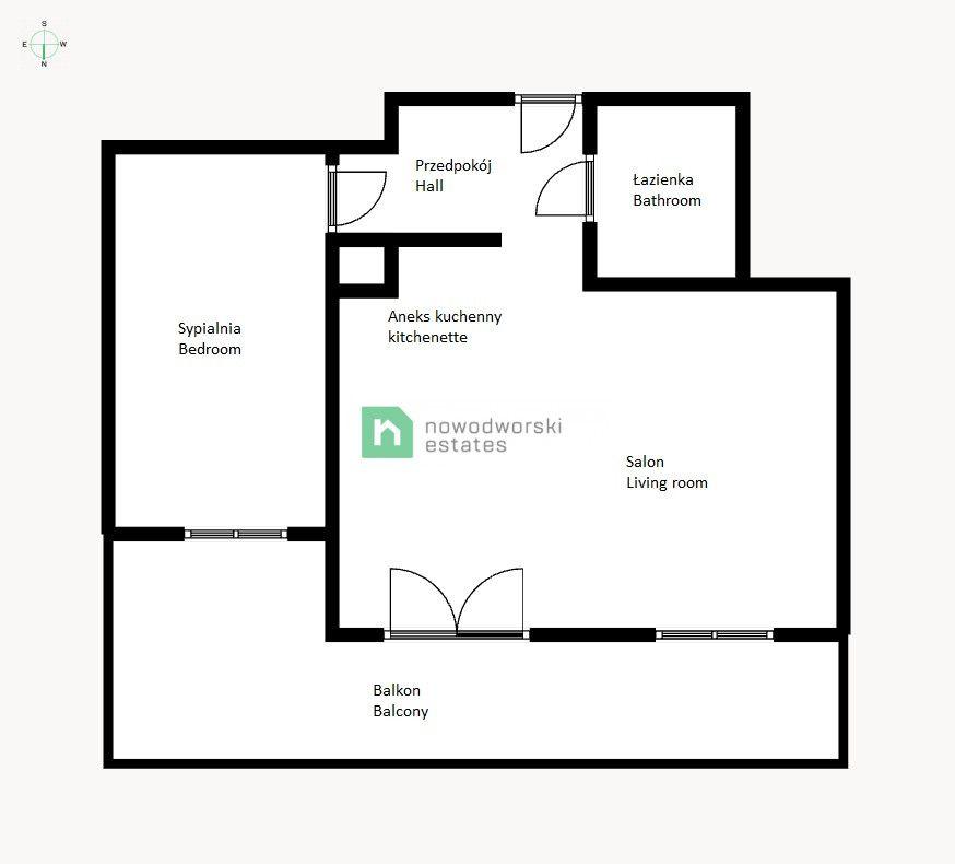 Mieszkanie na sprzedaż Wrocław, Krzyki / Przedmieście Oławskie ul. Tadeusza Kościuszki  Nowe 2 pokojowe mieszkanie z dużym tarasem - Nowa Papiernia!  floorplan