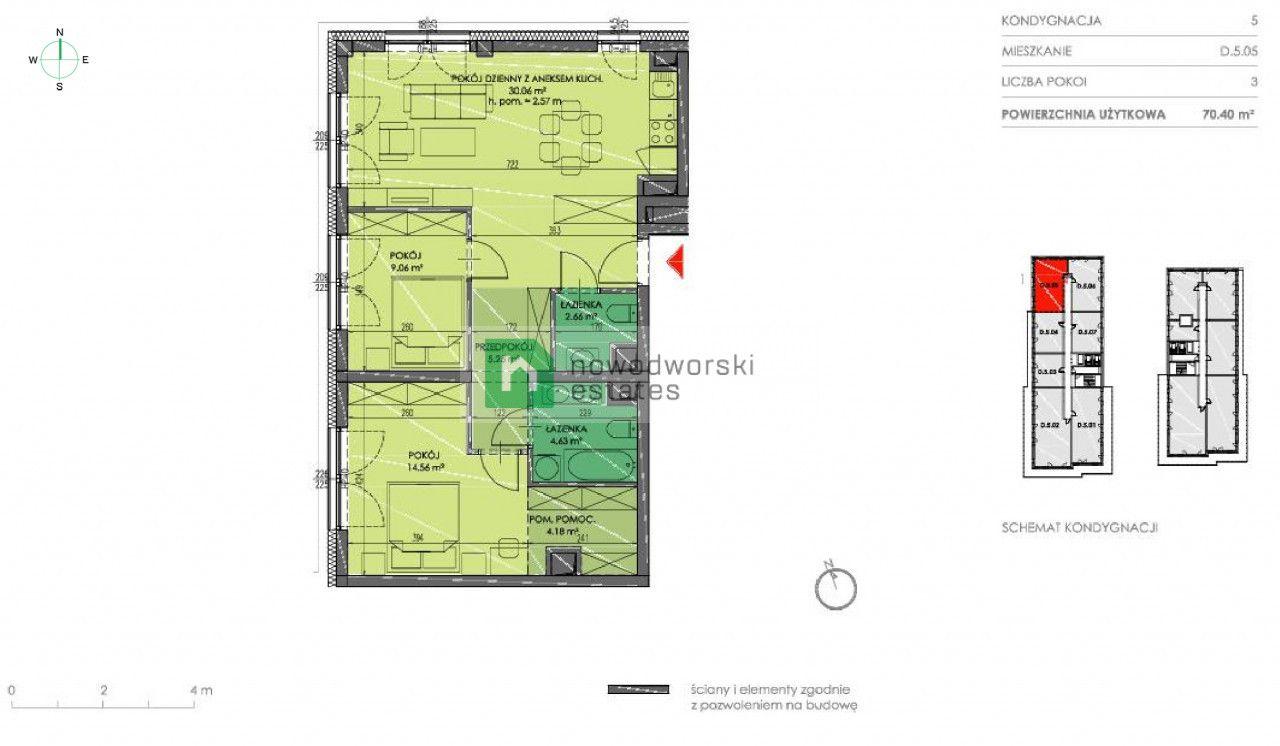 Mieszkanie na sprzedaż Wrocław, Kępa Mieszczańska ul. Księcia Witolda  Ekskluzywny apartament w centrum miasta 978 560 PLN  floorplan