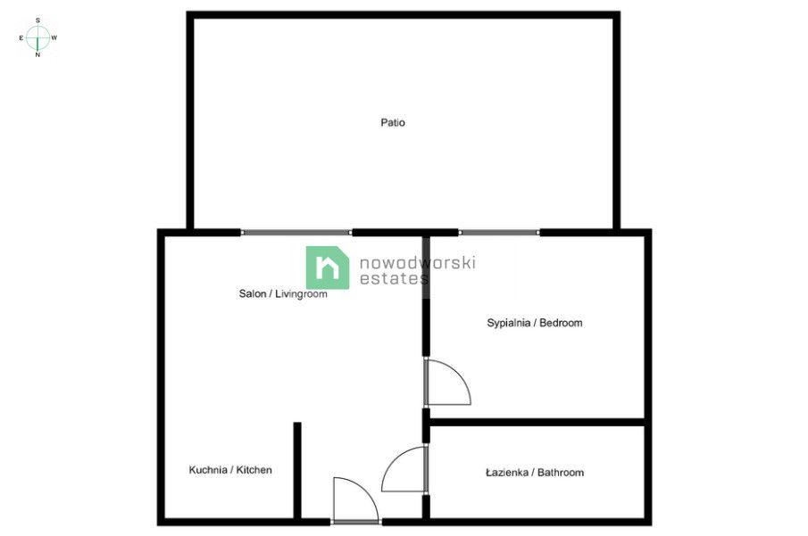 Mieszkanie do wynajęcia Poznań, Wilda / Dolna Wilda ul. Droga Dębińska Nowe, jasne 2-pokojowe mieszkanie w Vilda Park  floorplan