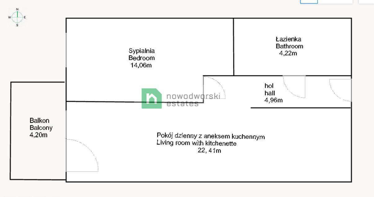 Mieszkanie do wynajęcia Wrocław, Fabryczna / Muchobór Wielki ul. Mińska  Nowe mieszkanie 2 pokojowe | garaż w cenie  floorplan